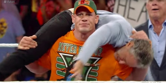 john-cena-gives-jon-stewart-an-attitude-adjustment-on-wwe-monday-night-raw